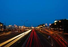 Belgrade traffic at night