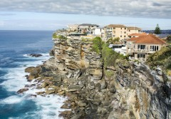 Houses on the cliff, North Bondi, Australia