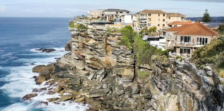Houses on the cliff, North Bondi, Australia