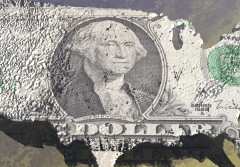 digital visualization of the usa with dollar texture
