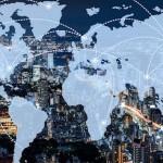 World Map, Globe - Navigational Equipment, Computer Network, Technology, Digital Display