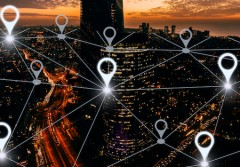 Network gps navigation modern city future technology